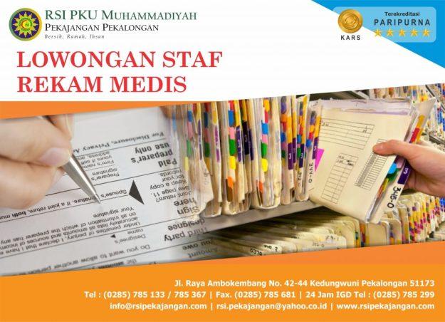 Lowongan Pekerjaan Bagian Rekam Medis di  RSI PKU Muhammadiyah Pekajangan